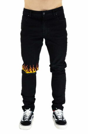 PANTALONE VISION OF SUPER BLACK DA UOMO B17FLAME