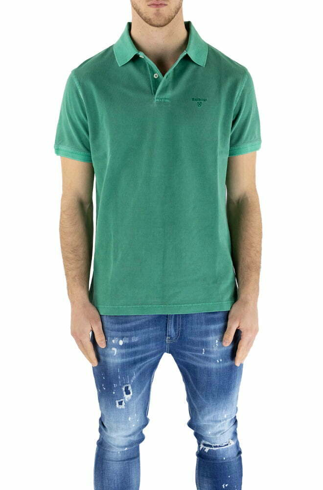 POLO BARBOUR GREEN DA UOMO MML1127