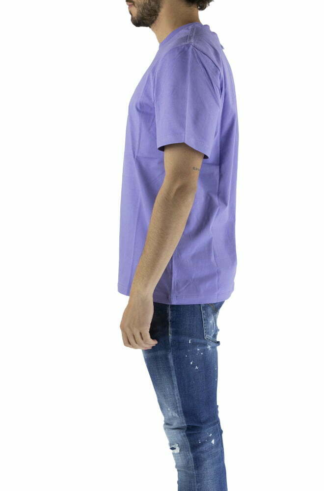 T-SHIRT MSGM PURPLE DA UOMO MM169 217098