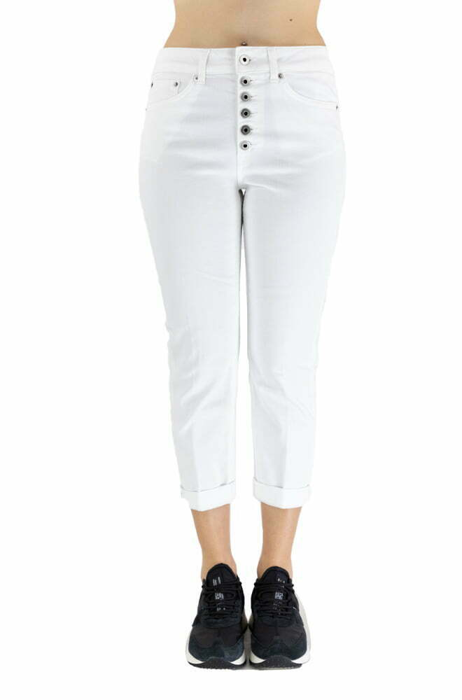 PANTALONE DONDUP WHITE DA DONNA DP268B BS0030