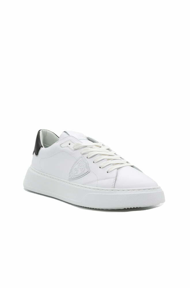 SCARPA PHILIPPE MODEL BLANC NOIR DA UOMO TEMPLE LOW MAN