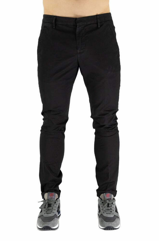 PANTALONE DONDUP BLACK DA UOMO UP235GSE046