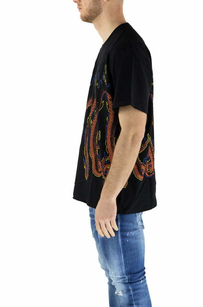 T-SHIRT OCTOPUS BLACK DA UOMO MORE FIRE TEE
