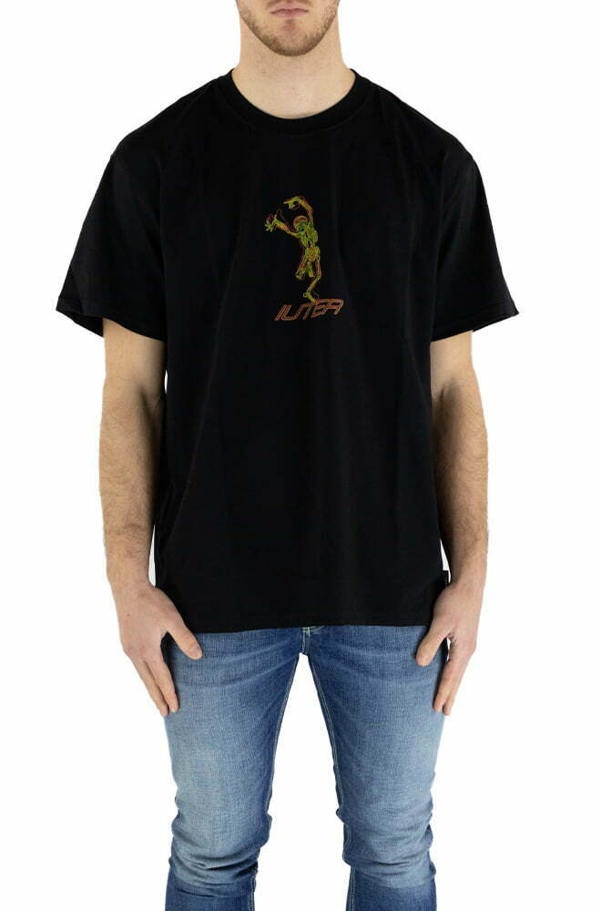 T-SHIRT IUTER BLACK DA UOMO SKELETON TEE