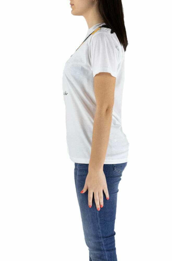T-SHIRT 5 PROGRESS BIANCO DA DONNA 704