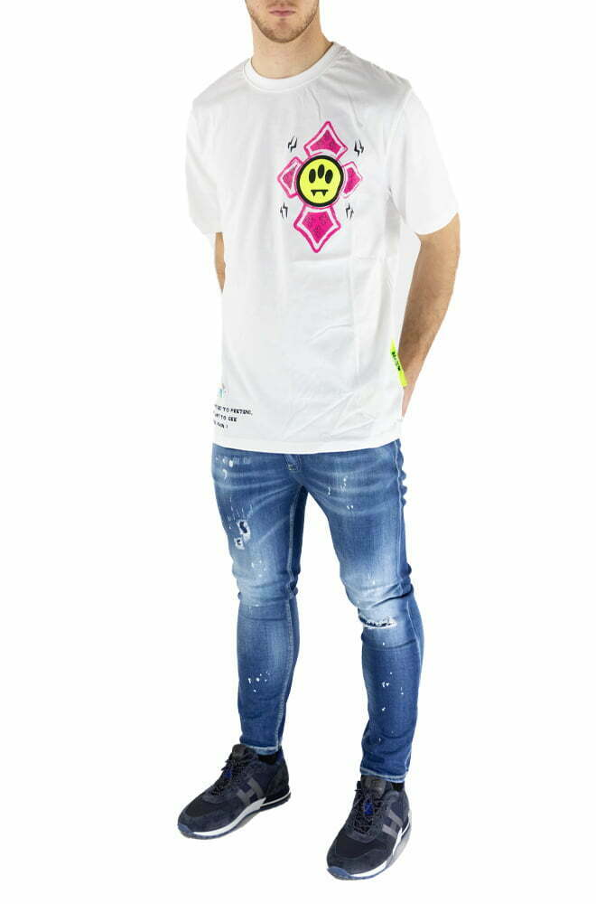 T-SHIRT BARROW WHITE DA UOMO 29142