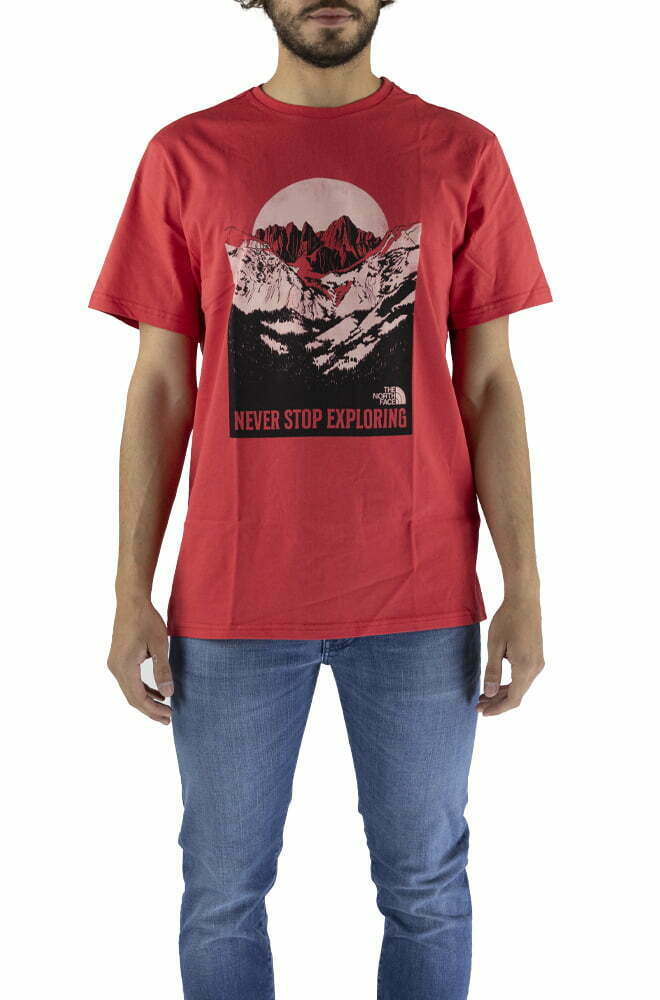 T-SHIRT THE NORTH FACE RED DA UOMO NF0A4T1G